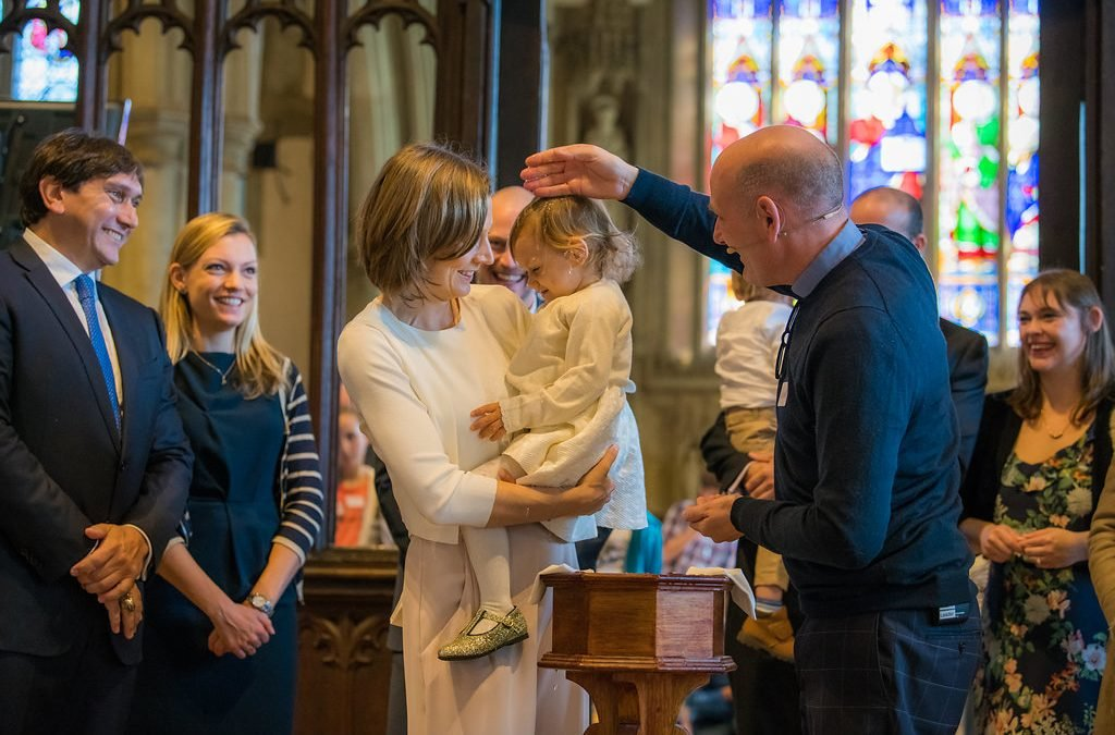 Christening St Mary's Church Reigate